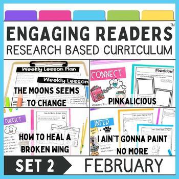 Guiding Readers: February SET TWO NO PREP ELA Unit for K-1