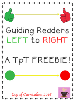 LEFT to RIGHT {Guided Reading}
