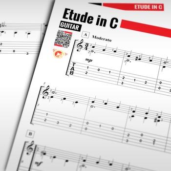 Guitar SHEET MUSIC: Etude in C - Dionisio Aguado [Classica