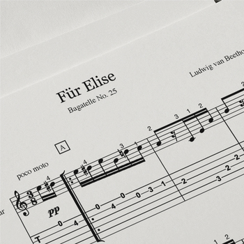 Guitar Sheet Music: Fur Elise (Ludwig van Beethoven)