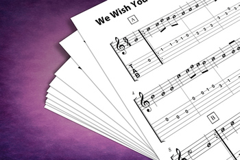 Guitar Sheet Music: We Wish You a Merry Christmas