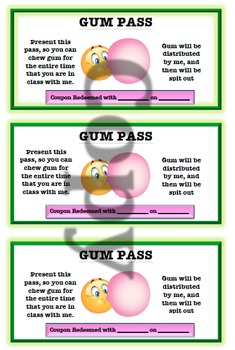 Gum Coupons