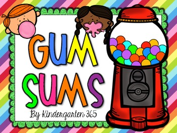Gum Sums Addition Activities