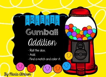 Gumball Addition - FREEBIE