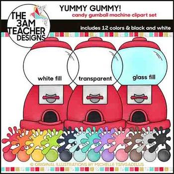 Gumball Machine Clip Art Set - Over 60 Custom Graphics!
