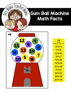 Gumball Machine Math Facts Game