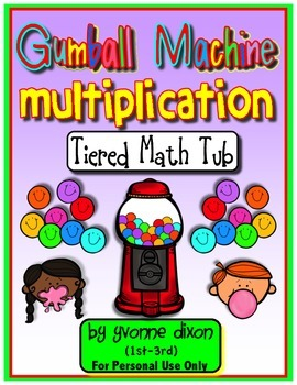 Gumball Machine Multiplication Tiered Math Tub