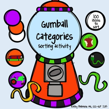 Gumball Machine Sorting Category Activity