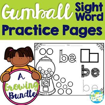 Gumball Sight Word GROWING BUNDLE!