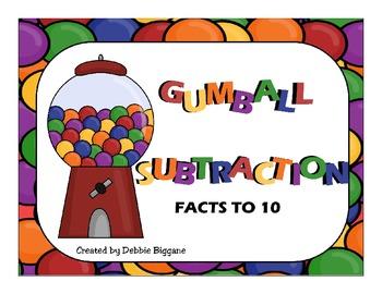 Gumball Subtraction Math Center
