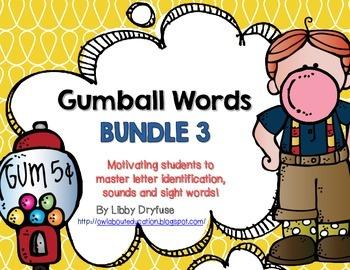Gumball Words BUNDLE 3!  Common Core Word Activities