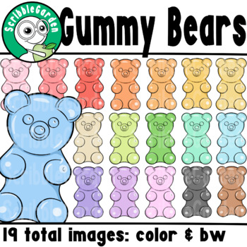 Gummy Bears Counters ClipArt