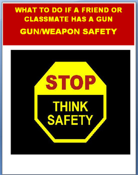 """Gun Safety""   Lesson plan,  Art Activity and Quiz"