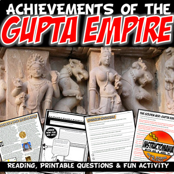 Gupta Empire The Golden Age Common Core Literacy & Writing