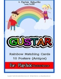 Gustar Spanish Verb Matching Cards & Posters
