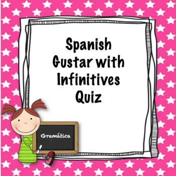 Spanish Gustar with Infinitive Quiz