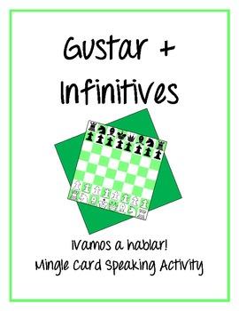 Gustar with Infinitives - ¡Vamos a hablar! Mingle Card Spe