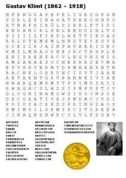 Gustav Klimt Word Search