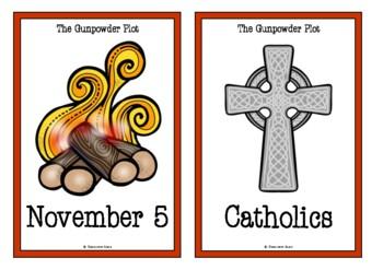 Guy Fawkes & Bonfire Night Picture Cards (The Gunpowder Plot)
