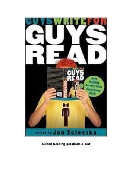Guys Write for Guys Read Guided Reading Questions
