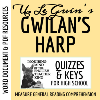 """Gwilan's Harp"" by Ursula K. Le Guin - Guided Reading Handout"
