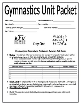Gymnastics Team Packet