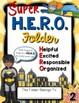 H.E.R.O. Folder Covers --- Super Hero Take Home Folders Wi