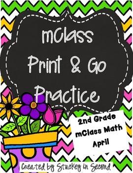 mClass Math PRINT AND GO Practice-2nd Grade-April