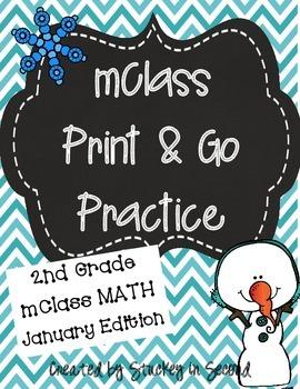 mClass Math PRINT AND GO Practice-2nd Grade-JANUARY