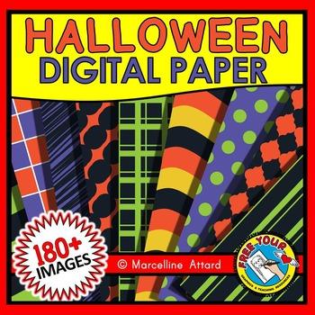 HALLOWEEN CLIPART: HALLOWEEN DIGITAL PAPERS: HALLOWEEN BAC