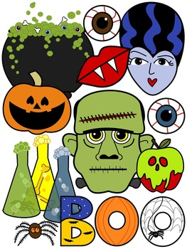 HALLOWEEN CLIPART 2015 * COLOR AND BLACK AND WHITE