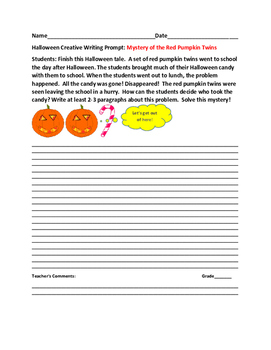 HALLOWEEN CREATIVE WRITING PROMPT: MYSTERY OF THE RED PUMP