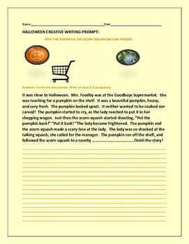 HALLOWEEN CREATIVE WRITING PROMPT: THE PUMPKIN & THE ACORN