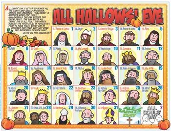 """HALLOWEEN - Catholic All Hallows Eve """"Advent"""" Calendar"""