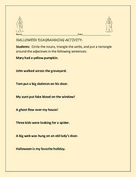 HALLOWEEN DIAGRAMMING ACTIVITY: GRADES 4-7