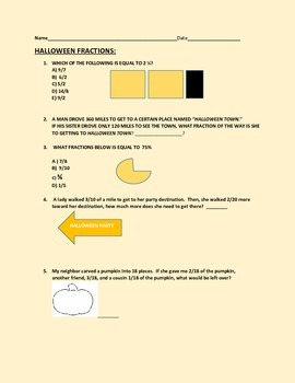 HALLOWEEN FUN WITH FRACTIONS, GRADES 4-6