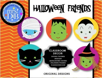 HALLOWEEN - Frightful Friends !** ORIGINAL ARTWORK