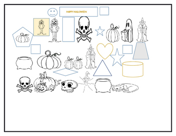 HALLOWEEN GEOMETRY COLORING PAGE
