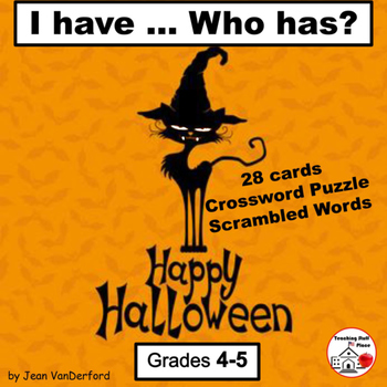 HALLOWEEN Game | Vocabulary   I have ...Who has? 28 Cards