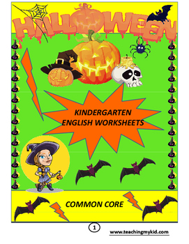 HALLOWEEN English Kindergarten Worksheets