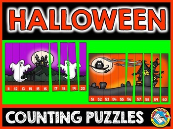 HALLOWEEN MATH CENTER: HALLOWEEN COUNTING PUZZLES: NUMBERS TO 120