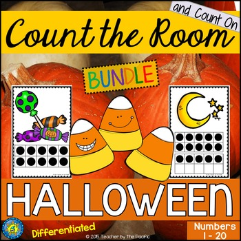 HALLOWEEN Math - Count the Room – Ten Frames and Numbers 1