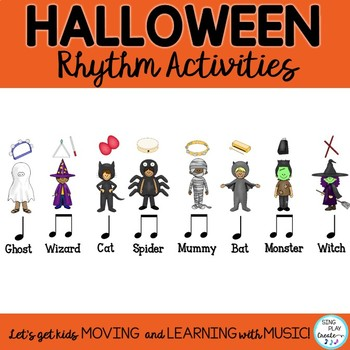 Halloween Rhythm and Composition Activities with Instruments