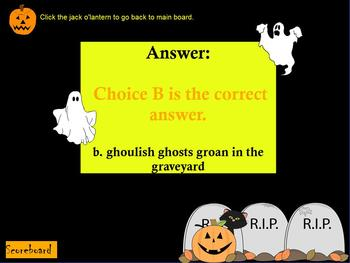 HALLOWEEN THEMED FIGURATIVE LANGUAGE JEOPARDY GAME ~ SIMIL