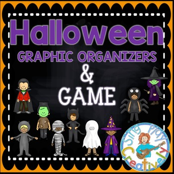 Halloween Writing Graphic Organizers and Classroom Game K-2