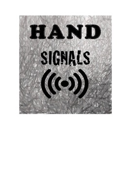 """HAND SIGNAL """"I Have a Question"""""""