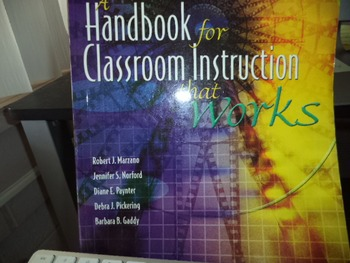 HANDBOOK FOR CLASSROOM INSTRUCTION THAT WORKS