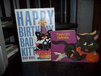 HAPPY BIRTHDAY BAD KITTY   FRAIDY CATS   (SET OF 2)