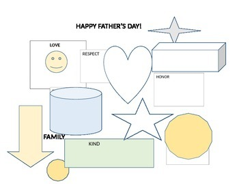 HAPPY FATHER'S DAY GEOMETRIC ART PAGE