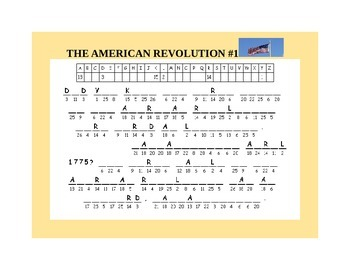 HAPPY INDEPENDENCE DAY- AMERICAN CRYPTOGRAM SET